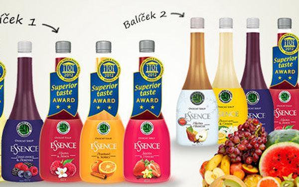 Přírodní ovocné sirupy Essence