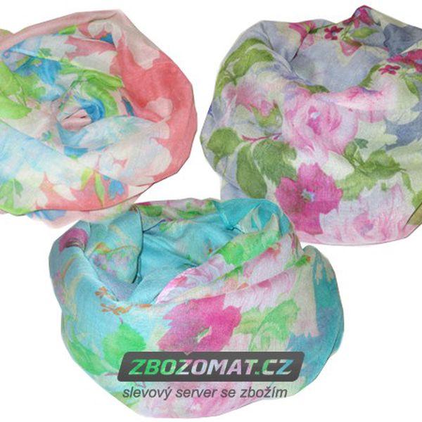 Romantický květinový šátek - krásný tunel!