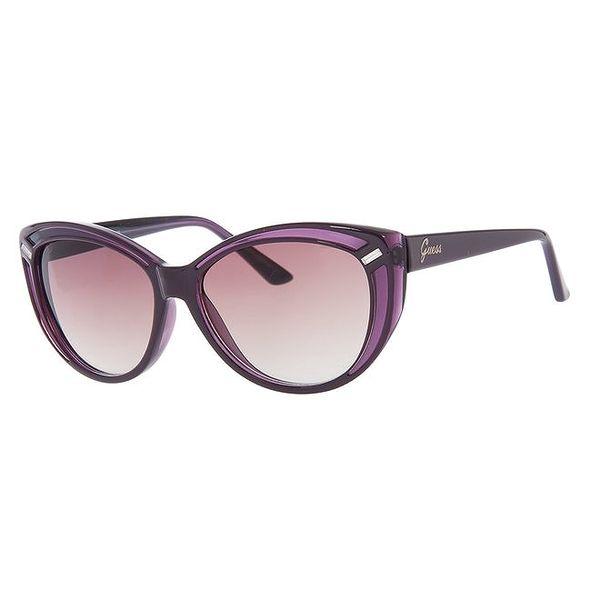 Dámské fialové sluneční brýle Guess s černými stranicemi