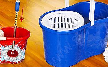 Revoluční 360° rotační mop i s kbelíkem a 2 náhradními hlavicemi.
