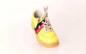 Dámská kožená vycházková obuv ROCER žlutá