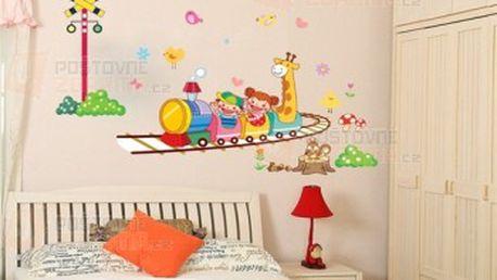 Nálepka na zeď s dětským motivem vláčku a poštovné ZDARMA! - 13009733