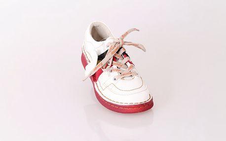 Dámská kožená vycházková obuv ROCER bílá