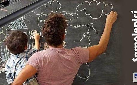 Praktická pomůcka nejen pro Vašeho školáčka či malého Picassa. Samolepicí tabule na stěnu - praktická a skladná. Ve dvou rozměrech.Cena včetně poštovného!!