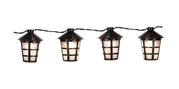 Světelný řetěz Party Lanterns, černý