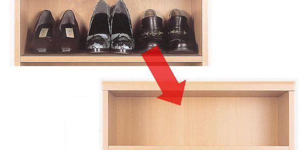 úsporné stojany na boty 4ks, šetří 50% místa