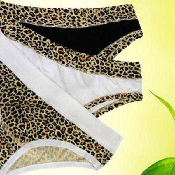 Troje kalhotky z bambusového vlákna