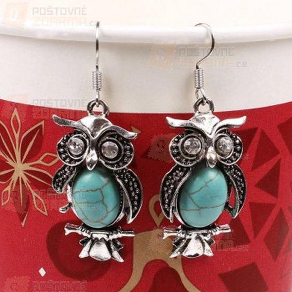 Vintage náušnice s modrým kamínkem ve dvou provedeních a poštovné ZDARMA! - 12509739