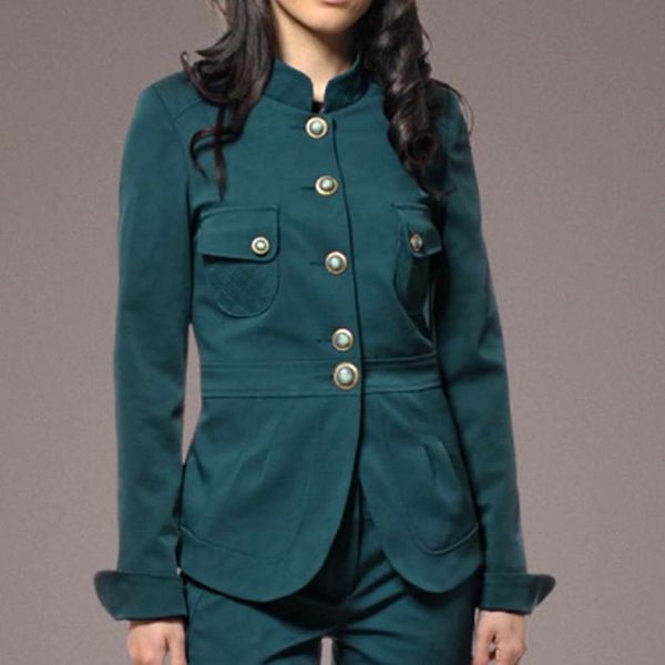 Dámské lahvově zelené vojenské sako Patricia Rado