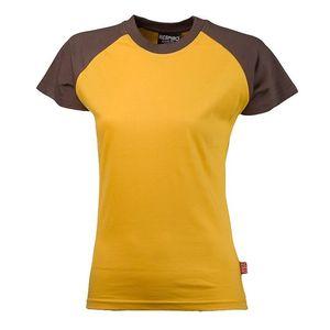 Dámské hnědo-žluté bavlněné tričko Respiro
