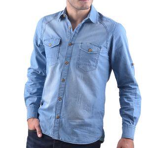 Pánská světlá džínová košile RNT23