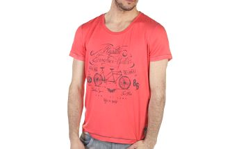 Pánské růžové tričko s kolem SixValves