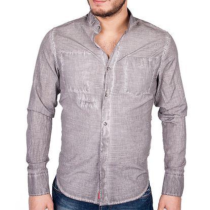 Pánská šedá košile RNT23