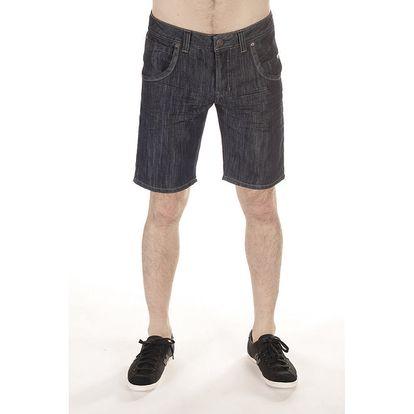 Pánské tmavé džínové kraťasy SixValves