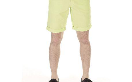 Pánské zelinkavé bavlněné šortky SixValves