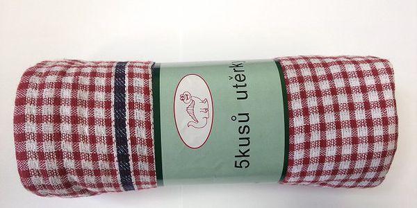 Kuchyňské utěrky 5ks ze 100 % bavlny!
