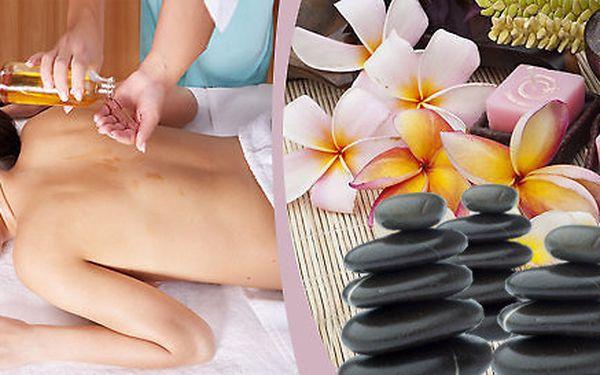 Havajská masáž celého těla LOMI LOMI s lávovými kameny nebo Čokoládová masáž se zábalem celého těla