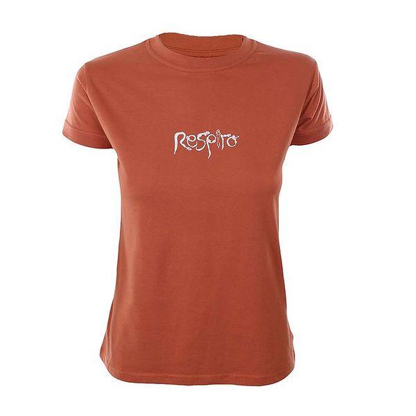 Dámské oranžové tričko s krátkým rukávem Respiro