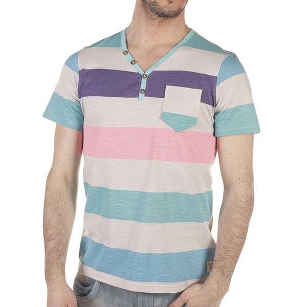 Pánské pastelové bavlněné tričko s kapsičkou SixValves
