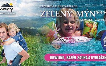 4 dny s polopenzí v Krkonoších s bazénem, saunou a...