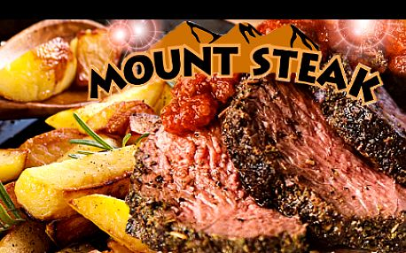 Labužnický KLOKANÍ STEAK spřílohou PRO DVA ve vyhlášené restauraci českých celebrit za luxusních 299 Kč! Vychutnejte si masovou lahůdku ve speciální směsi koření, na červeném víně či po staroaustralsku, kterou vám naservírují vMount Steak Restaurant!