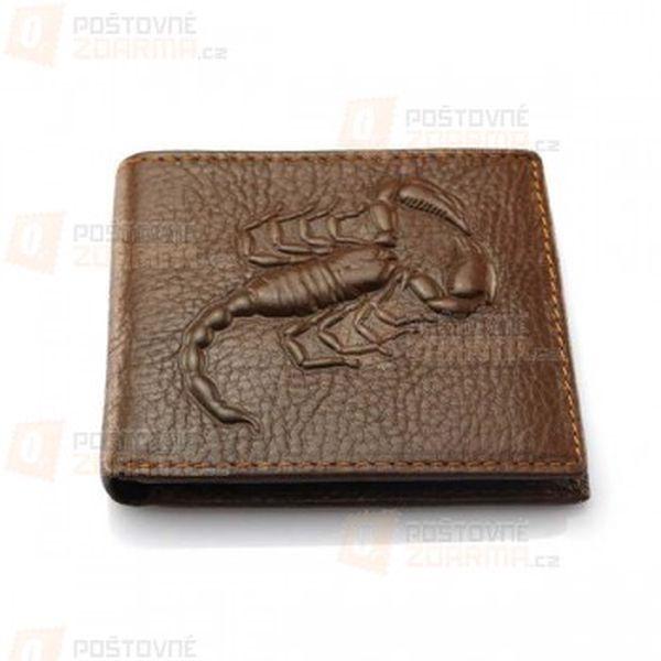 Pánská peněženka s motivem škorpiona a poštovné ZDARMA! - 13009827