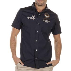 Pánská tmavě modrá košile s výšivkou na hrudi Bendorff