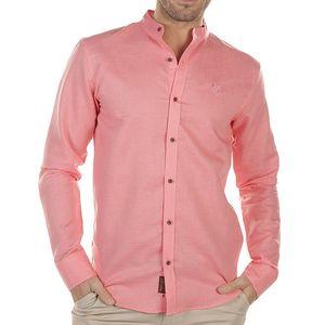 Pánská růžová košile s dlouhým rukávem Bendorff