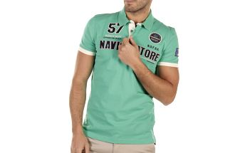 Pánské zelené polo tričko s výšivkami Bendorff