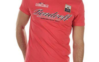Pánské červené tričko s výšivkami Bendorff