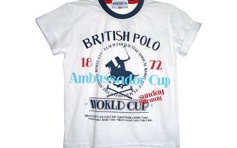 Bílé triko Polo