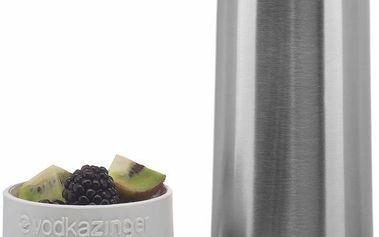 Vodkazinger, lahev na vodku a ovoce