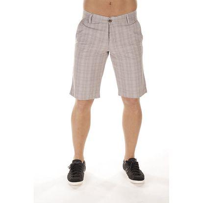 Pánské plátěné světlé šortky s kostkami Bendorff