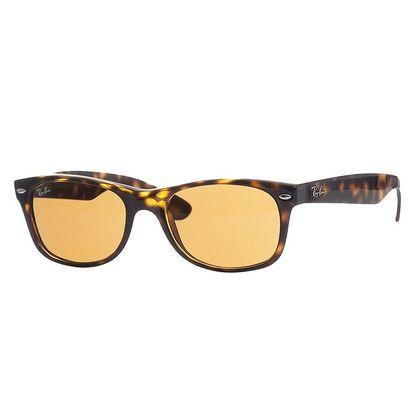 Hnědo-jantarové sluneční brýle Ray-Ban Wayfarer