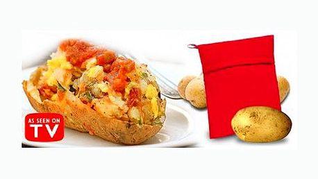 Sáček na vaření brambor je perfektním pomocníkem do každé kuchyně. Připravte si oblíbené brambory v mikrovlné troubě během pouhých čtyř minut!