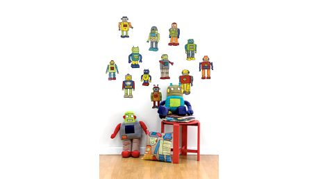 Samolepky na zeď - roboti