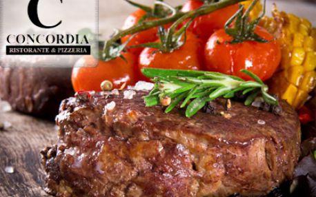 Vynikající až 50% sleva v nově otevřené luxusní restauraci CONCORDIA!!! Pobočka oblíbené Ristorante Concordia nově na Praze 4! Šéfkuchař doporučuje šťavnaté steaky, křupavou pizzu nebo domácí dezerty ze surovin přímo ze slunné Itálie!!