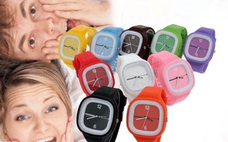 Stylové Jelly silikonové hodinky