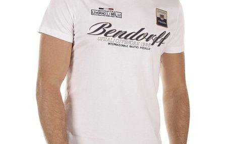 Pánské bílé tričko s výšivkami Bendorff