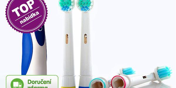 Náhradní hlavice na elektrické zubní kartáčky Braun – 4 ks