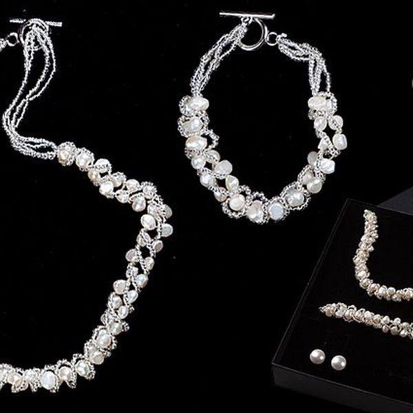 Sada šperků z říčních perel
