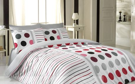 BedTex bavlna povlečení Pera červená140x200 70x90