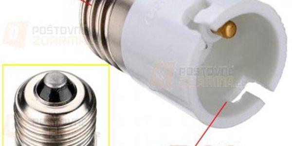 Redukce žárovky z E27 na B22 a poštovné ZDARMA! - 14809837