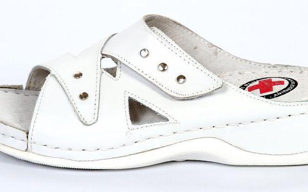 Zdravotní pantofle s ANTISHOCKEM bílé