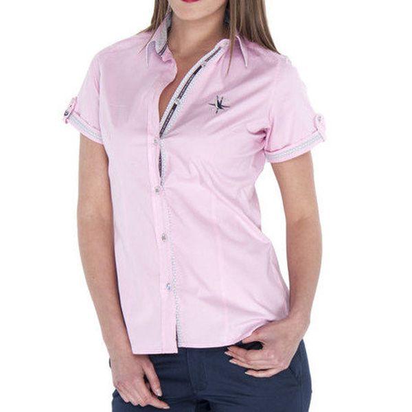 Dámská růžová košile s krátkým rukávem Giorgio di Mare