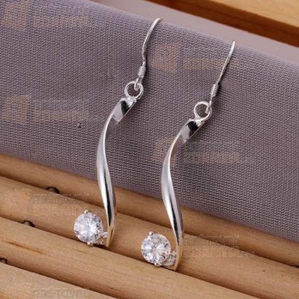 Stříbrné náušnice s kamínkem a poštovné ZDARMA! - 13108444