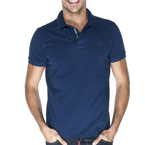 Pánské tmavě modré polo tričko Giorgio Di Mare