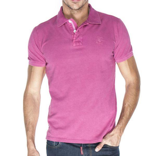 Pánské růžové pastelové polo tričko Giorgio Di Mare