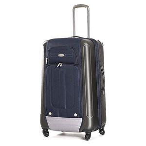 Velký modrý kufr s kolečky Ravizzoni