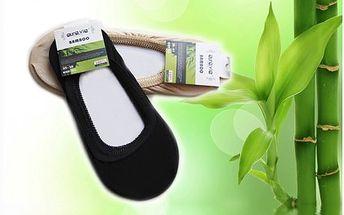 Čtyři páry ponožek do balerínek s bambusovým vláknem. Ideální díky vysoké absorbci potu a zápachu na letní dny.